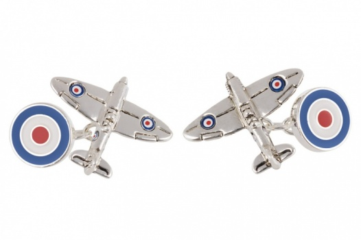 Spitfire Chain Link Cufflinks with RAF Roundel